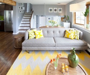 Gray And Yellow In The Living Room