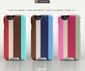 Grip Stripes Customizable Leather iPhone 6 Cases