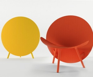 Halo coloured carbon fiber chair by Michael Sodeau