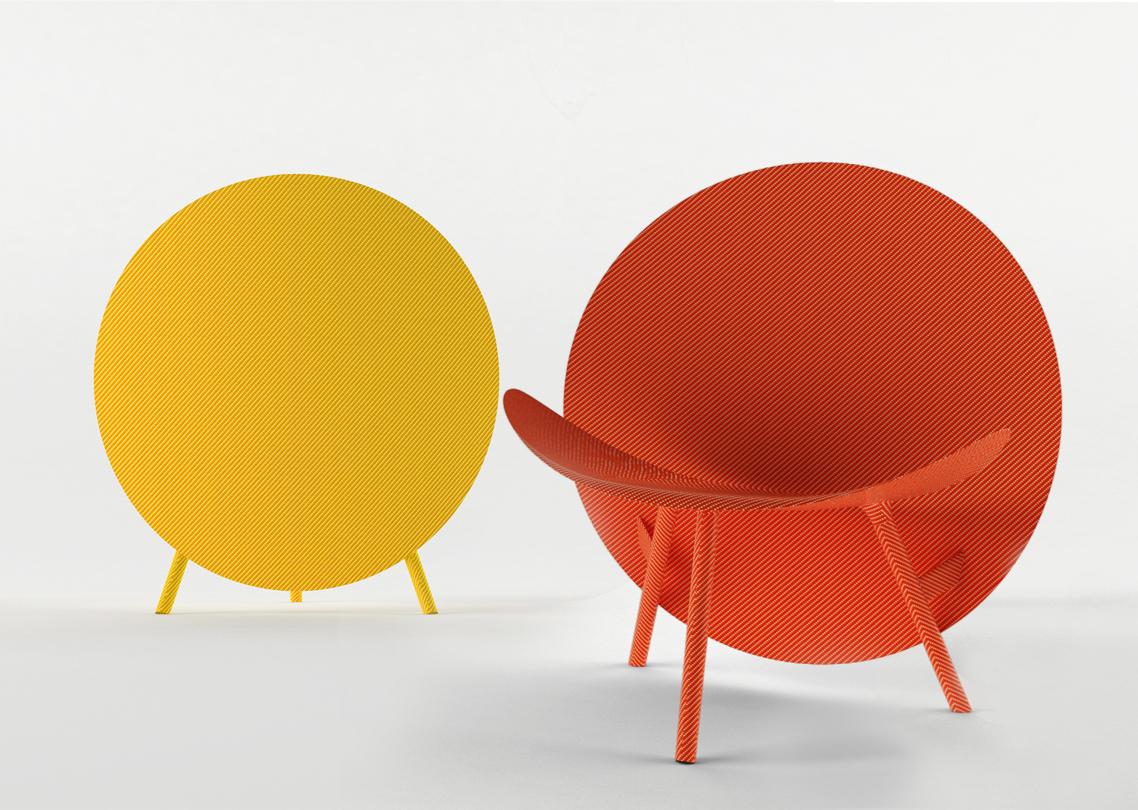 Carbon Fiber Chair Halo Coloured Carbon Fiber Chair By Michael Sodeau