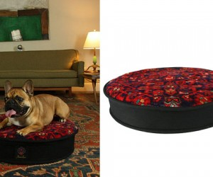 Hand Tufted Wool Rug Dog Bed
