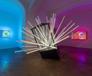 Hans Kotters light installations at Galerie Michaela Stock