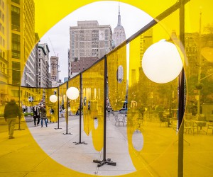Happy Installation, Flatiron Plaza, New York  Studio Cadena
