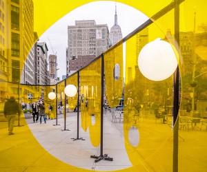 Happy Installation, Flatiron Plaza, New York  Studio Cadena