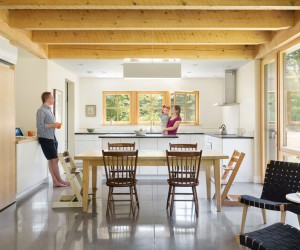 Hayfield House Features Traditional Forms and Modern Interior Design