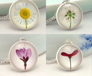 Herbarium Resin Sterling Silver Necklaces