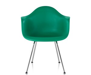 Herman Miller Eames Molded Plastic Armchair 4-Leg Base by Charles  Ray Eames