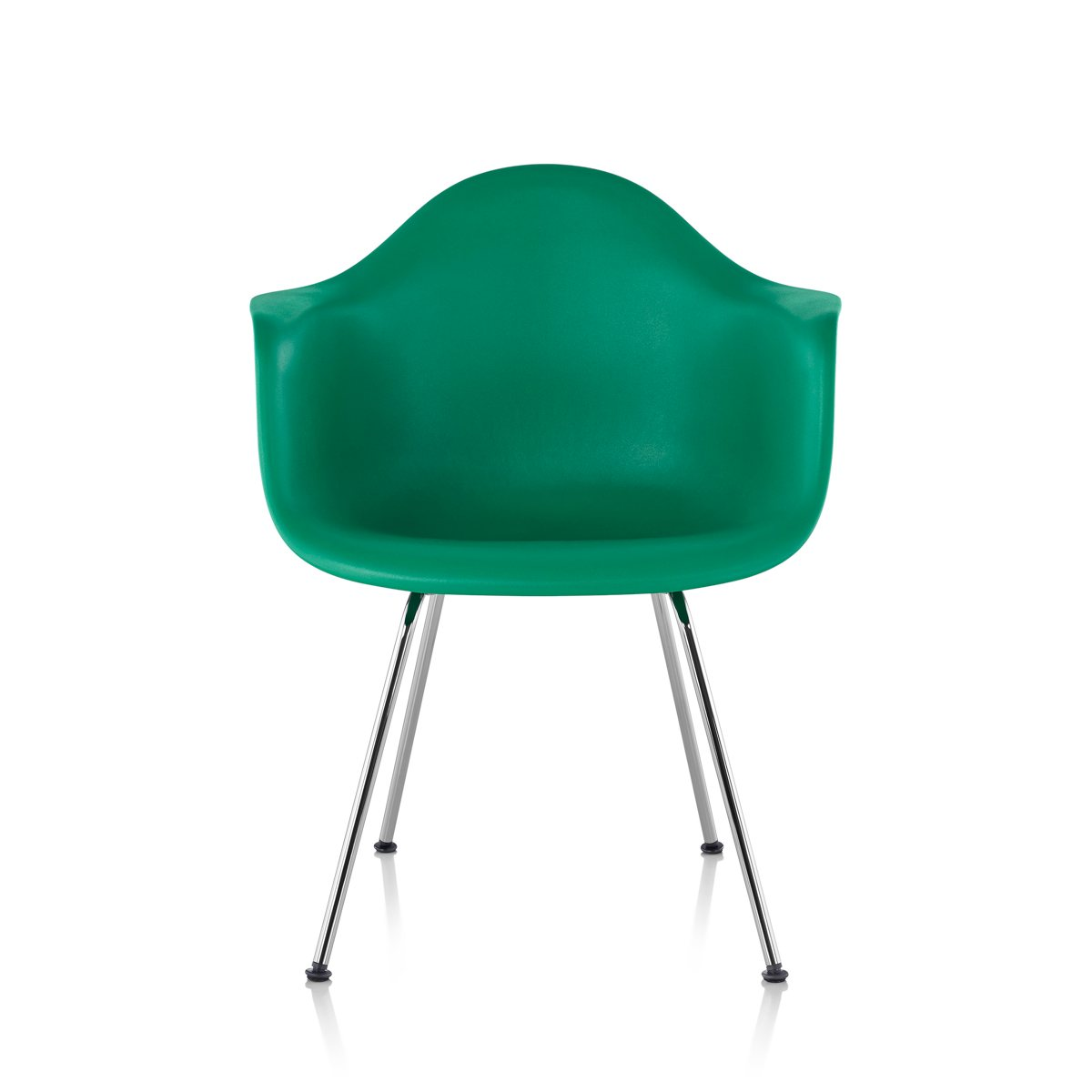 Herman miller eames molded plastic armchair 4 leg base by for Eames plastic armchair gunstig