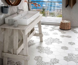 Hexatile Matte Tile Collection by Equipe Ceramica