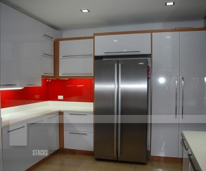 High Gloss White Modular Kitchen