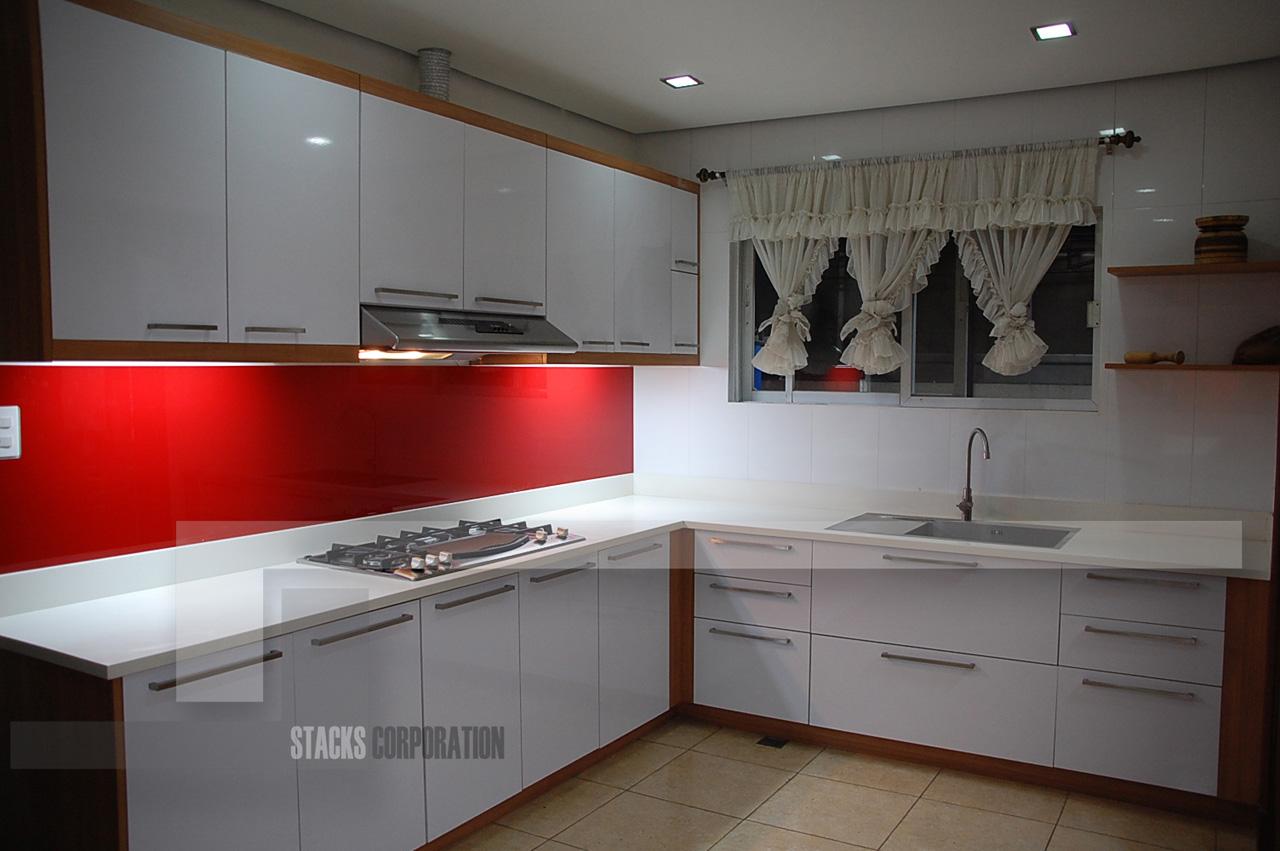 Kitchen Modular Cabis Ideas Good Looking Design With White Brown - Modular kitchen designs red white