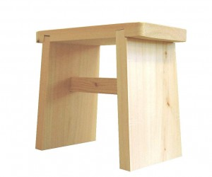 Hinoki Bathroom Stool