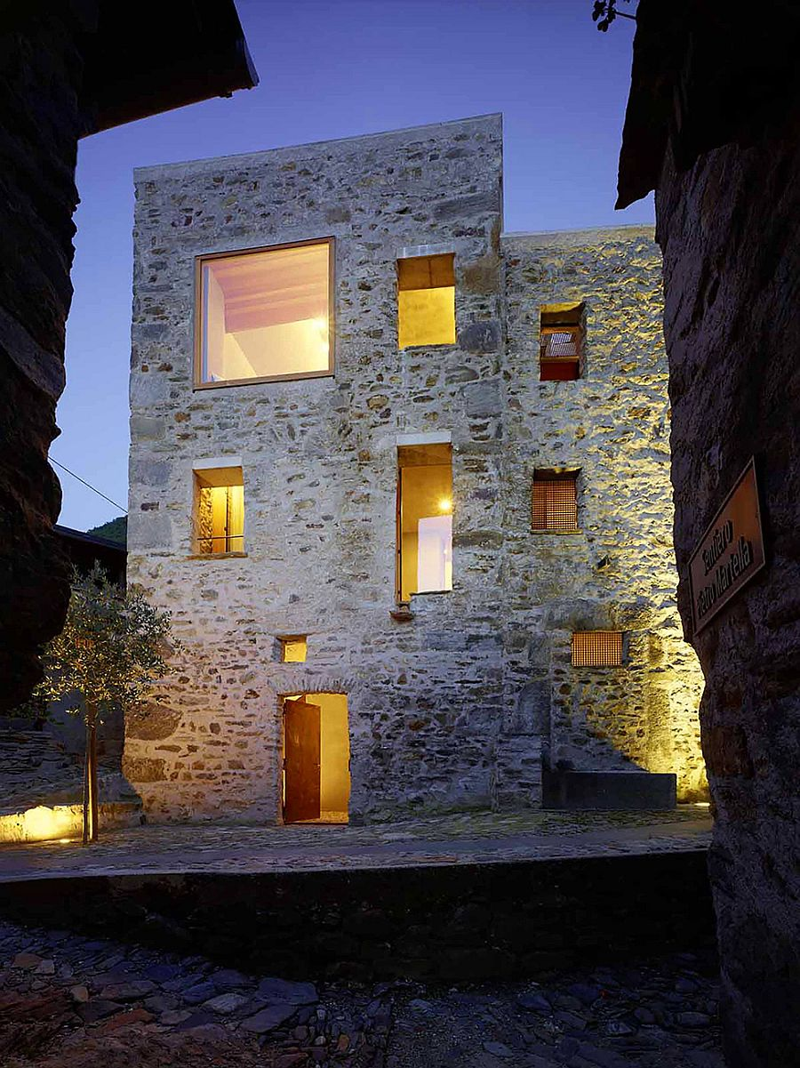 Historic Stone House In Switzerland Gets A Modern Minimalist Facelift