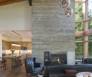 Holiday Home that Combines Modern Architecture with Reclaimed Rustic Materials