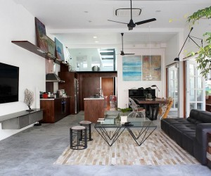 Home in Novena: Old Terrace House Turned into a Modern Family Residence
