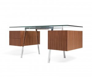 Homework Desk with Double Drawer and Filing Drawer by Niels Bendtsen of Bensen