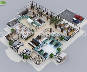 Hospital Floor Plan Concept Design by Architectural Animation Services - Brisbane,  Australia