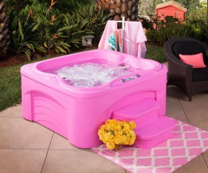 Hot Pink Hot Tubs for Breast Cancer Awareness Month