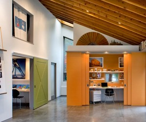 Hot Trend: Vibrant Home Offices with Bold Orange Brilliance