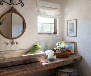 Hot Trends: Best Mediterranean Style Powder Rooms with Modern Overtones