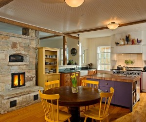 Hot Trends: Give Your Kitchen a Sizzling Makeover with a Fireplace