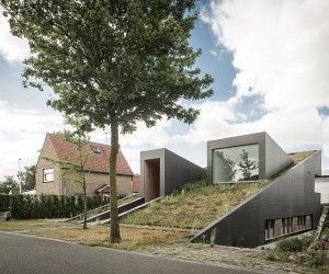House Pibo: Partially Underground Home Turns its Roof into an Extended Garden