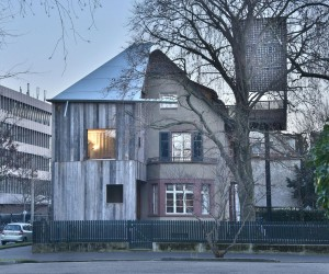 House with a Tree Designed by Sauter Von Moos in Basel, Switzerland