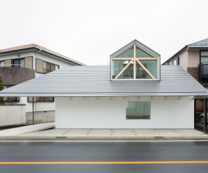 House with Dormer Window by Hiroki Tominaga Atelier
