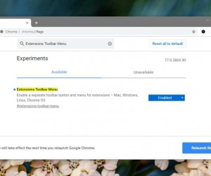 How to enable the new Chrome extensions menu