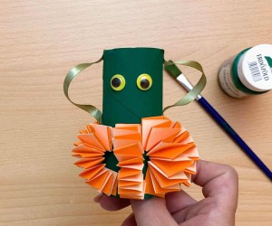 How to Make a Cute Toilet Paper Roll Pumpkin for Fall