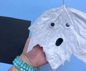 How to Make a Fall Leaf Ghost
