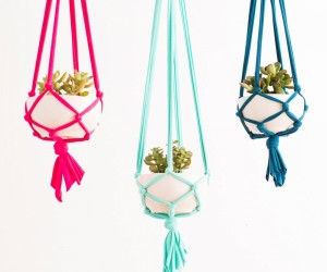 How to make a macram hanging planter