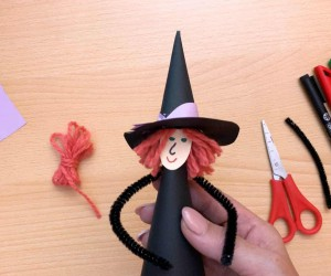 How to Make a Paper Cone Witch for Halloween