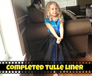How To Make a Simple Tulle-Lined Circle Skirt