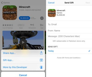 How to send gifts from the App Store on iOS