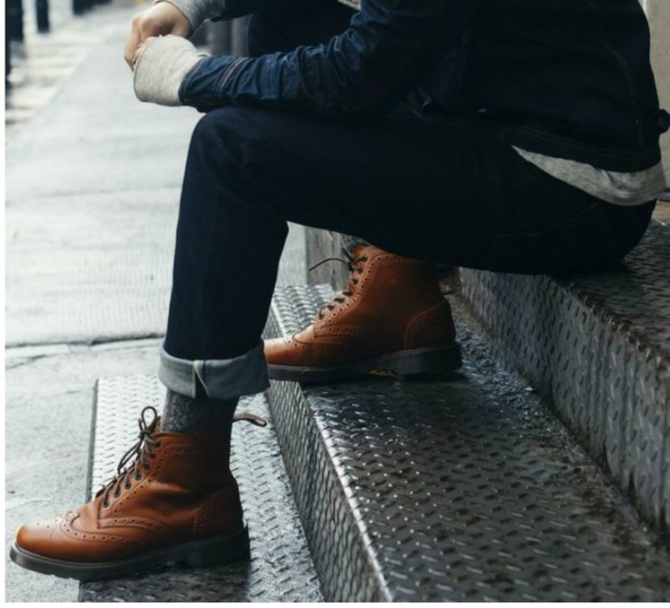 Boots and jeans are both ruggedly refined, so pairing them together is a natural fit. Try to find a pair of jeans that are slimming but not too tight, skinny jeans will look disproportionate with a .