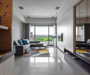 HOZO Interior Design Creates a Contemporary Home in Taipei, Taiwan
