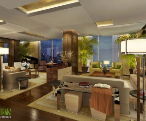 Breathtaking 3D Residential Interior living Room Design