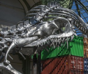 Huang Yong Pings Skeleton Snake at Paris Grand Palais