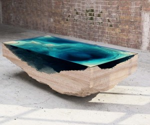 Hypnotizing As The Sea: Sculptural 3D Abyss Table by Duffy London