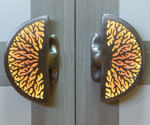 Illuminated Entry Door Handles by Martin Pierce