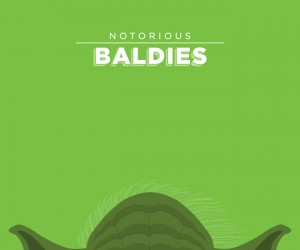 Illustrations of Pop Cultures Most Notorious Baldies by Mr. Peruca