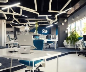 Imaginative Spaceship-Themed Office
