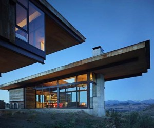 Imposing Compound Surrounded by Mountains in Methow Valley