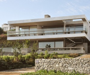 Imposing Concrete House in Cachagua, Chile
