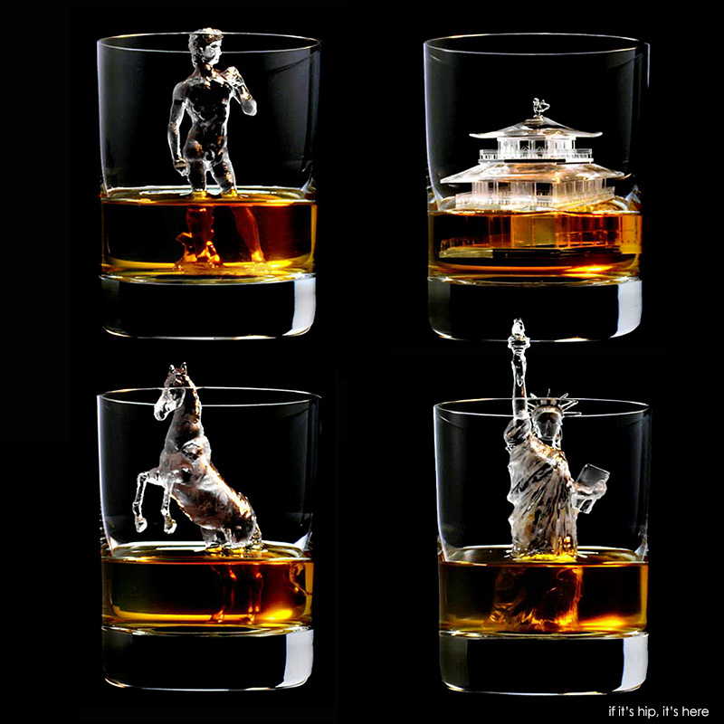 Impressive Ice Art For Suntory Whisky