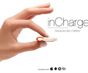 inCharge: Minimalist Keyring Charging Cable