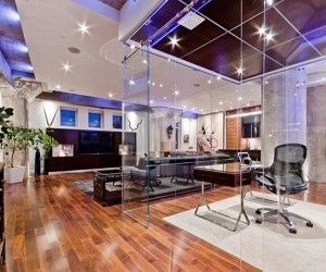 Incredible Glass Cube Home Office