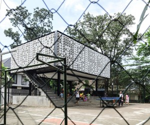 Indonesian Library Built From 2,000 Ice Cream Buckets