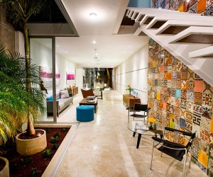 Indoor Garden and Innovative Use of Tiles: Vibrant Home in Mrida